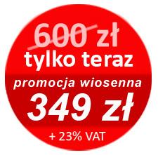 Promocyjna cena szkolenia - 350 zł (+ 23% VAT)