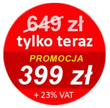 Promocyjna cena szkolenia - 349 zł (+ 23% VAT)